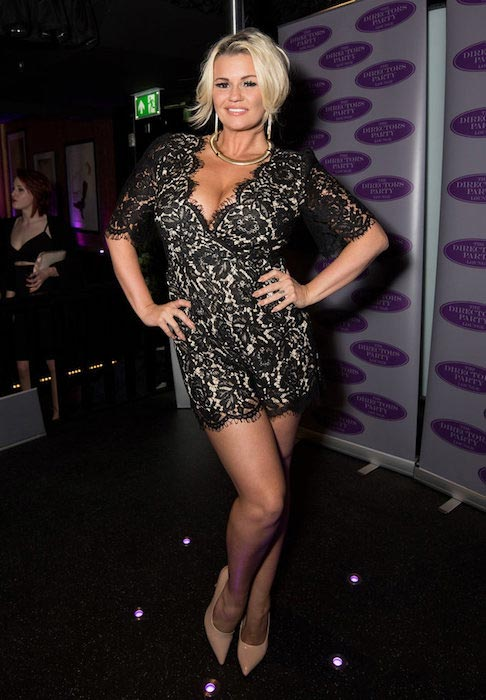 Kerry Katona at London's Top New Model launch held at the Director's Party Lounge on April 12, 2016