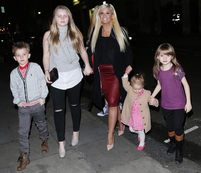 Kerry Katona with her kids
