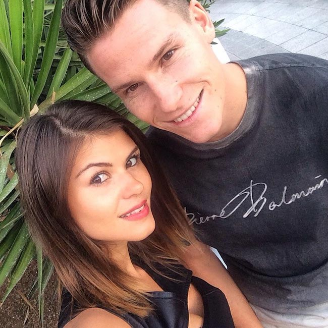 Kevin Gameiro with his wife Lina