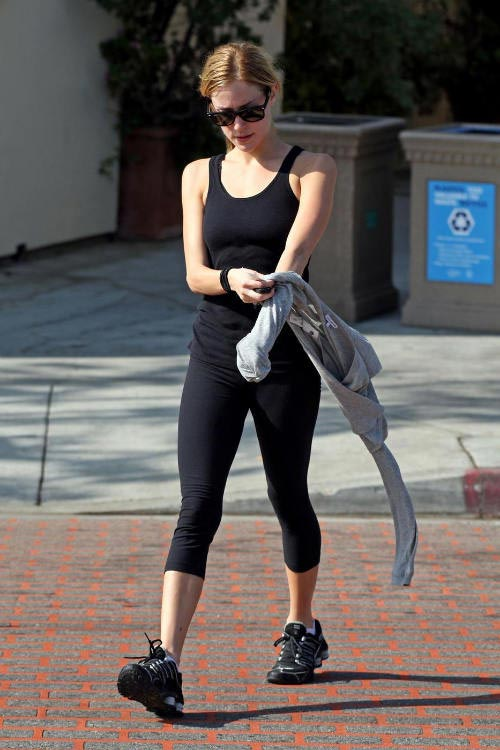 Kristin Cavallari after a workout session
