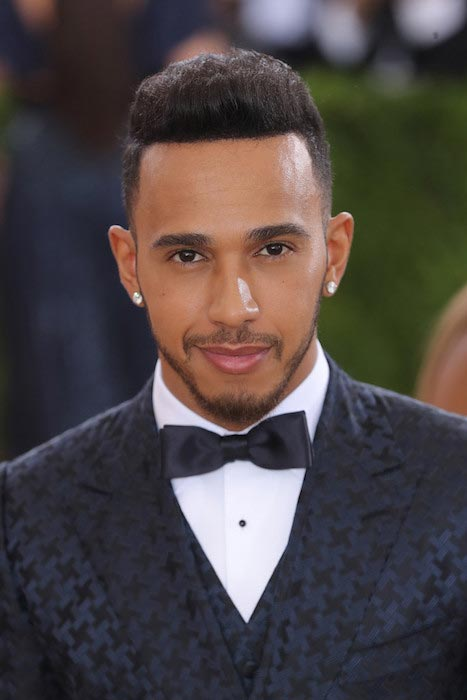 "Lewis Hamilton at the ""Manus x Machina: Fashion In An Age Of Technology"" Costume Institute Night on May 2, 2016 in New York City"