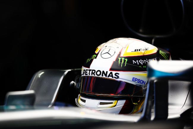 Lewis Hamilton during a practice session prior to a Formula One Grand Prix of Russia on April 30, 2016 in Sochi, Russia
