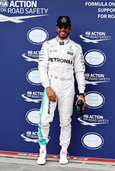 Lewis Hamilton after winning the Australian Formula One Grand Prix on March 19, 2016