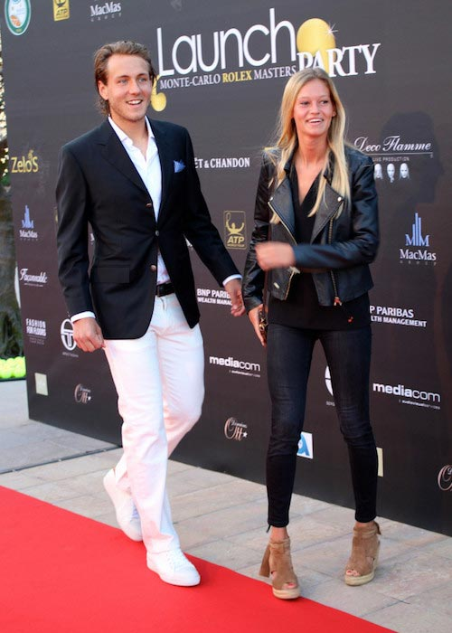Lucas Pouille and Clemence at the Monte-Carlo Rolex Masters Party
