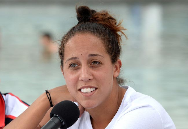 Madison Keys during a press conference during the Fed Cup on April 15, 2016 in Brisbane, Australia