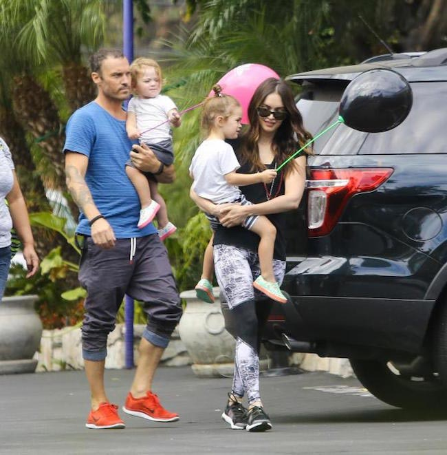 Megan Fox with her 2 kids and Brian Austin Green