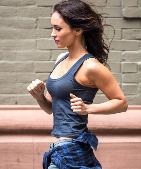 Megan Fox running workout