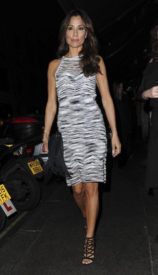 Melanie Sykes at InStyle's EE BAFTA Rising Star Party in London in 2016