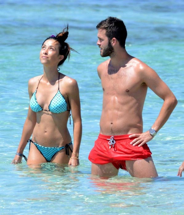 Miralem Pjanic and his longtime girlfriend Josepha on a vacation