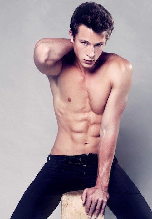Nick Roux shirtless body