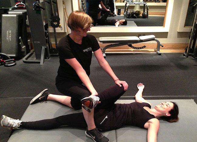 Nicola Addison training her client