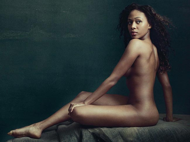 Nicole Beharie posing nude for Allure in 2015