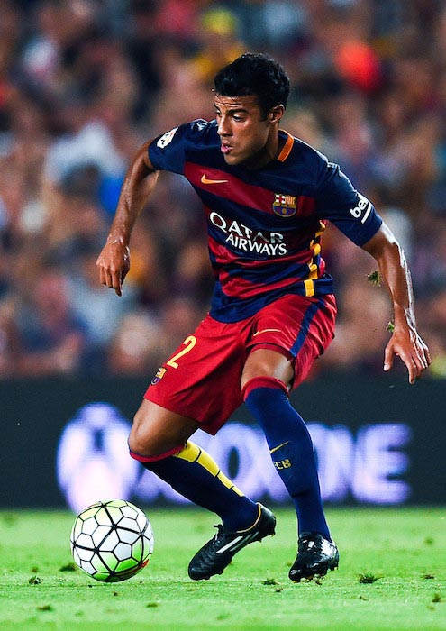 Rafinha in action during a match on August 5, 2015 in Barcelona, Spain