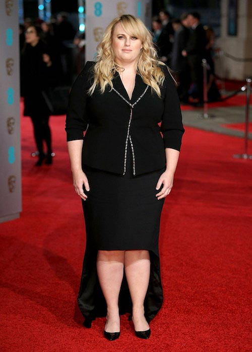 Rebel Wilson at BAFTA Awards 2016 walking the red carpet
