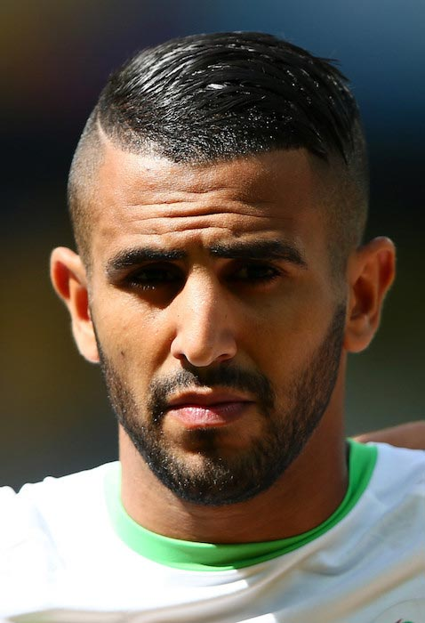 Riyad Mahrez prior to a match between Algeria and Belgium on June 17, 2014 in Belo Horizote, Brazil