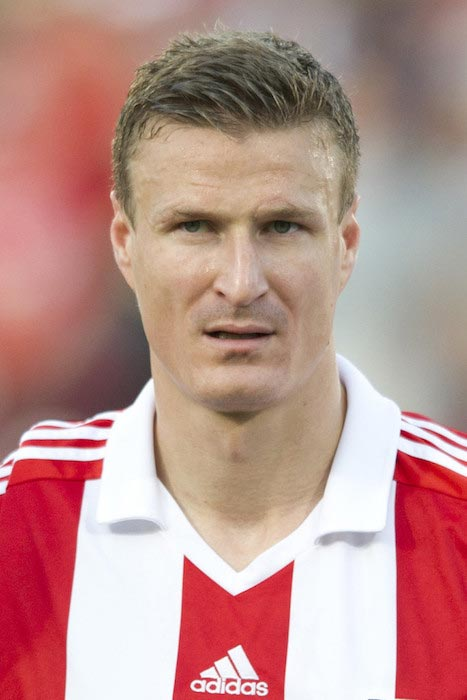 Robert Huth prior a match between Stoke City and FC Dallas on July 27, 2013 in Frisco, Texas