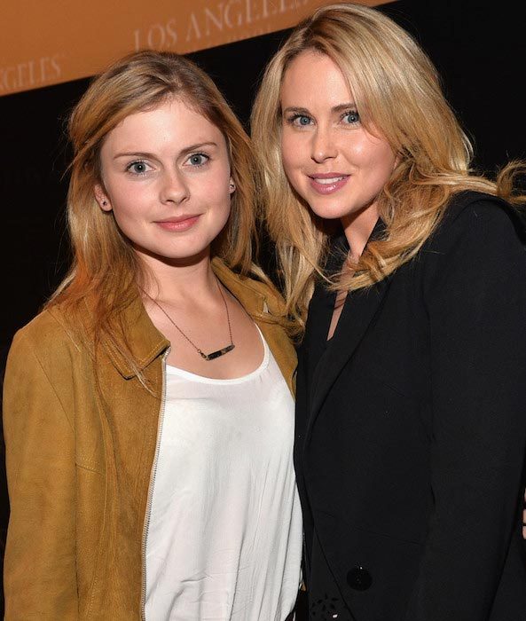 "Rose McIver and Anna Hutchison (right) at ""Blinder"" screening in April 2013"