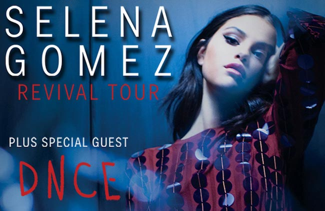 Selena Gomez during Revival tour