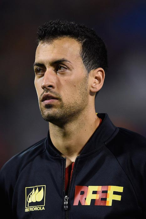 Sergio Busquets prior to an International friendly match against England on November 13, 2015 in Alicante, Spain