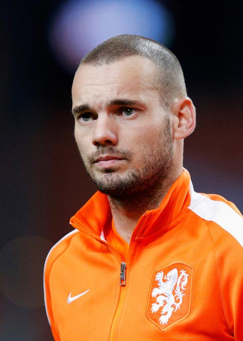 Wesley Sneijder before an international friendly match against Mexico on November 12, 2014 in Amsterdam, Netherlands