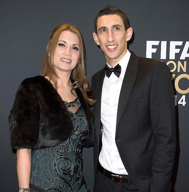 Angel Di Maria with his wife Jorgelina
