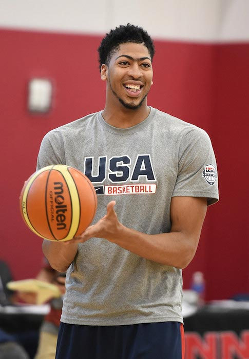 Anthony Davis during a training camp for the USA's National Team on August 12, 2015 in Las Vegas, Nevada