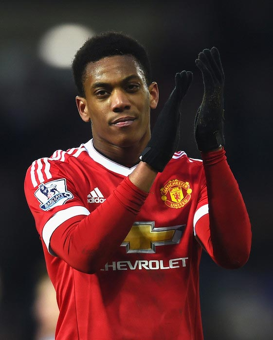 Anthony Martial after a Premiere League match between Manchester United and West Bromwich Albion on March 6, 2016