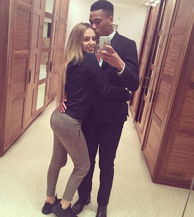Anthony Martial with Samantha Martial