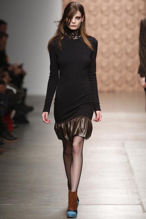 Audrey Nurit during a ramp walk at Fall Winter 2015 Fashion Show