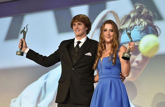 Belinda Bencic with Alexander Zverev