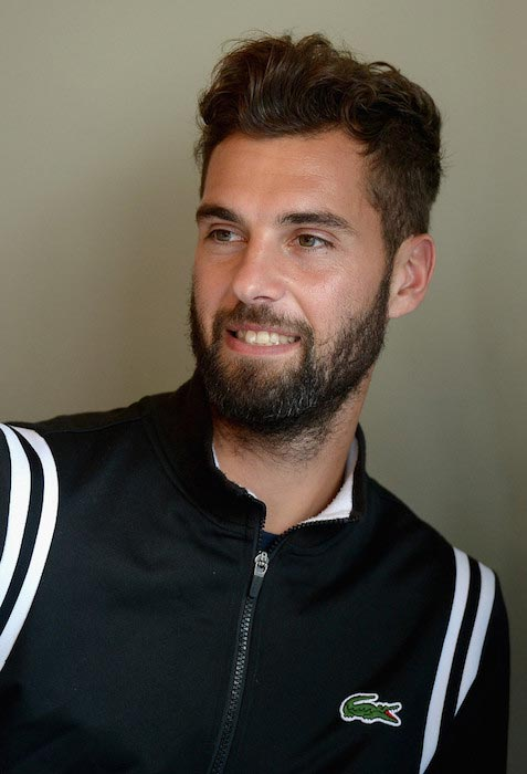 Benoit Paire during Miami Open on March 24, 2016 in Key Biscayne, Florida