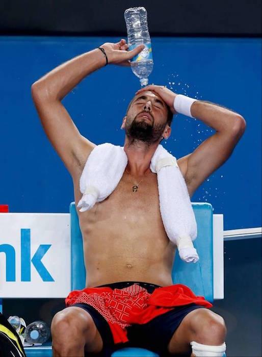 Benoit Paire shirtless body