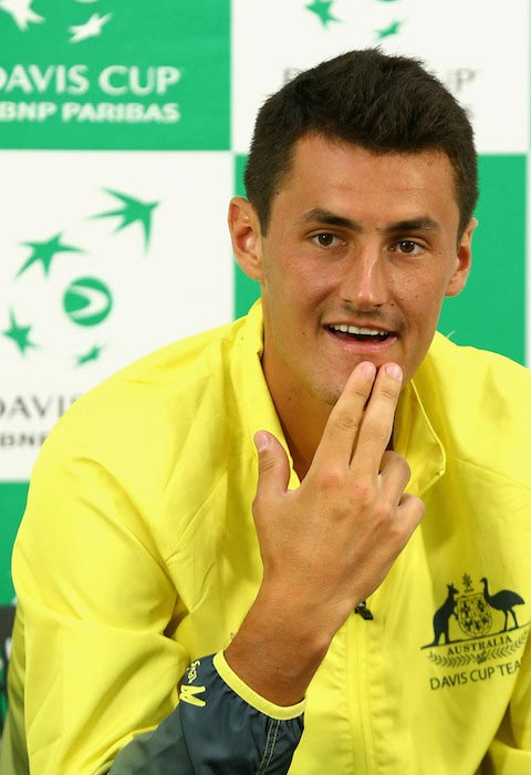 Bernard Tomic during a press conference after his match against John Isner on March 6, 2016 in Melbourne, Australia