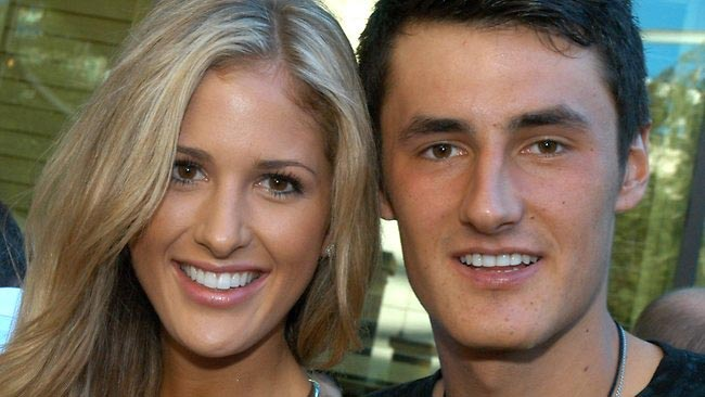 Bernard Tomic with Chelsey Grbcic