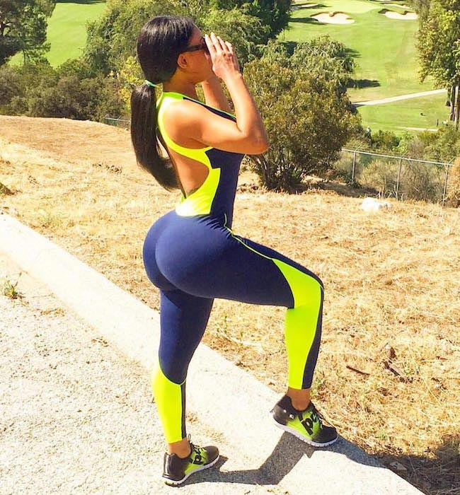Blac Chyna showing her bulging butt