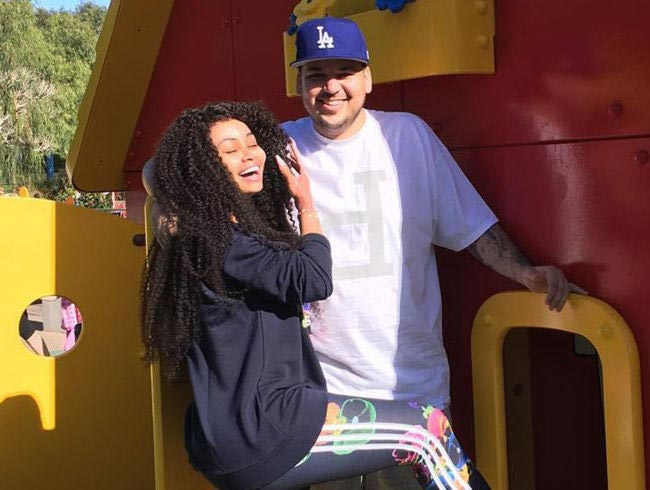 Blac Chyna with Rob Kardashian