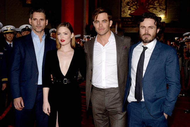 Chris Pine with friends and co-stars