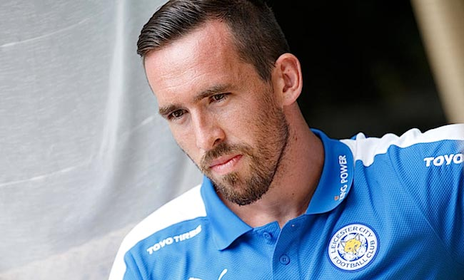 Christian Fuchs during players photo shoot in 2015