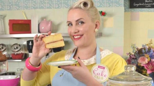 Claire Richards eating cake