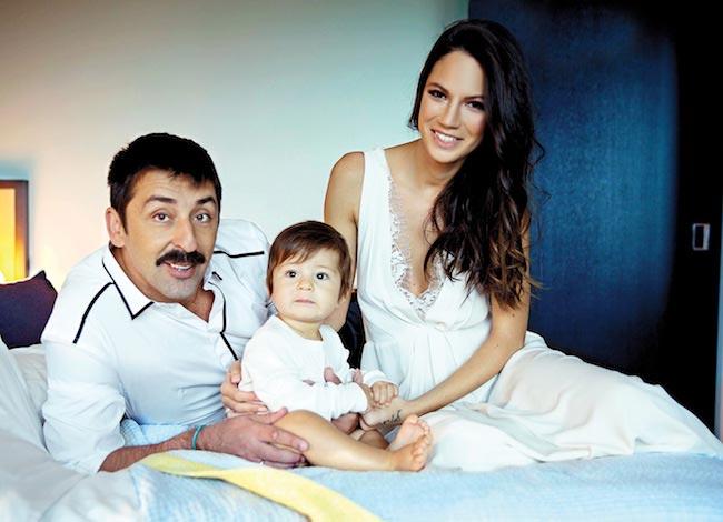 Danijela Dimitrovska with her husband Ognjen Amidzic and their son