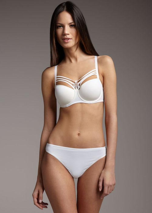 Danijela Dimitrovska in white bikini