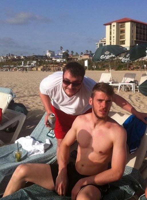 David de Gea during a vacation