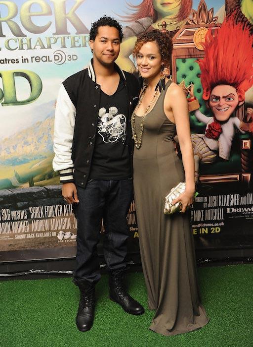 """Devon Anderson and Nathalie Emmanuel at the UK Gala Screening of """"Shrek Forever After"""" on June 20, 2010"""