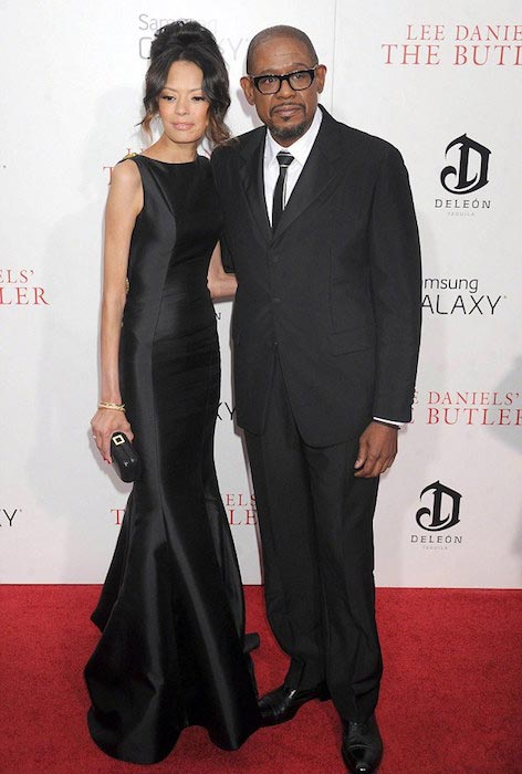 Forest Whitaker and his wife Keisha Whitaker