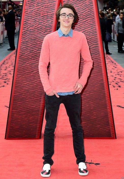 Isaac Hempstead Wright at the Ant-Man premiere on July 8, 2015