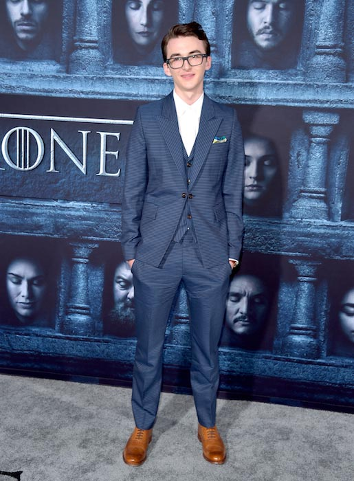 Isaac Hempstead Wright at the premiere of HBO's Game Of Thrones Season 6 April 10, 2016
