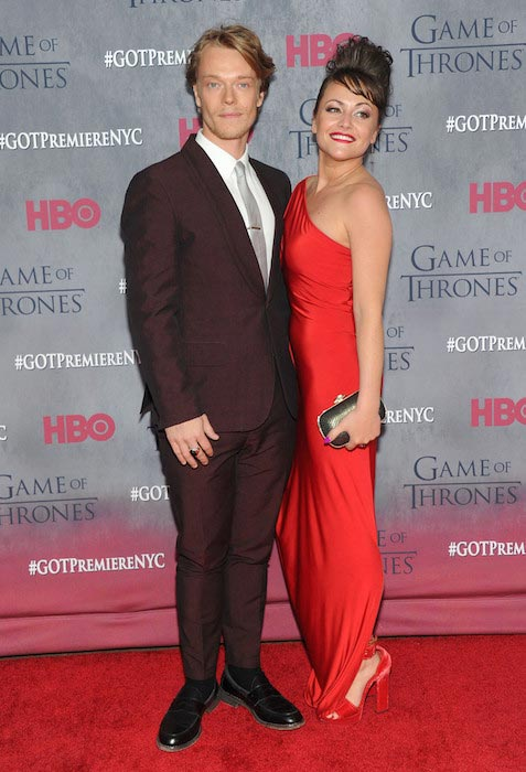 Jaime Winstone and Alfie Allen at the 'Game of Thrones' Season 4 premiere in New York City on March 18, 2014