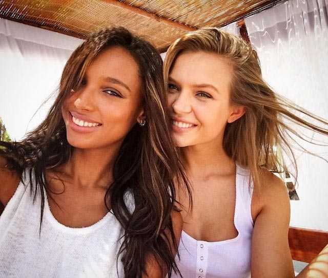 Jasmine Tookes and Josephine Skriver