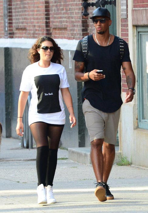 Jerome Boateng and his fiancee Sherin Senler