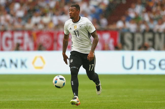 Jerome Boateng in action during a friendly match against Hungary on June 4, 2016 in Gelsenkirchen, Germany
